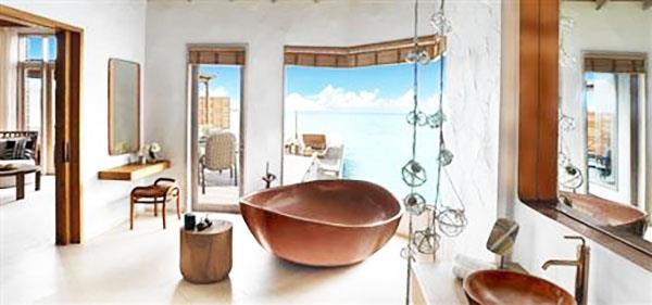 Copper Bathtub Fairmont Maldives Sirru Fen Fushi
